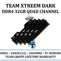 Memory Team Xtreem Dark DDR4 PC24000 3000Mhz Quad Channel 32GB (4x8GB)