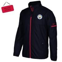 Jaket waterproof black logo MANCHESTER CITY