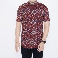 Kemeja Batik Pria Lengan pendek Baju Batik Pria Songket Slimfit Formal