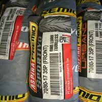 Ban depan tubeless Aspira Premio Sportivo 70/80 17 motor bebek supra