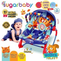Bouncer SUGAR BABY ROCKING 10in1 - EXTRA LARGE SEAT