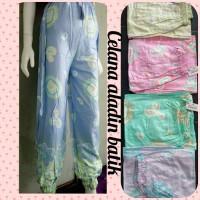 celana jogger batik rayon, celana panjang wanita motif rayon, grosir