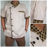 Baju Chef Kombi Batik Model Pria