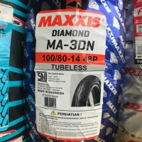 MAXXIS 100/80-14 MA 3DN TUBELES BAN MOTOR MATIC BELAKANG UK LEBAR