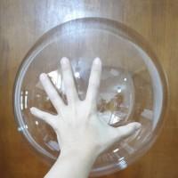 Balon Bobo Bulat Satuan / Balloon transparant clear bening / tumblr