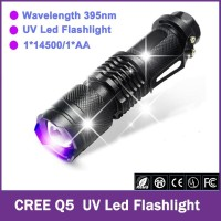 Money Detector Senter LED Cree Q5 395nm UV Ultraviolet Cek Uang Palsu