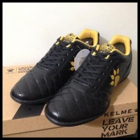 HOT SALE Sepatu Futsal Kelme Power Grip Black Gold 1102091 Original