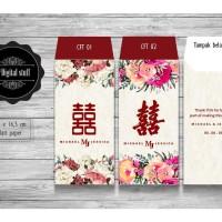 Amplop angpao chinese wedding thankyou custom nama dan tulisan