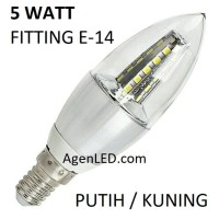 Lampu Candle LED 5W fitting E14 Hias 5 w watt bohlam lilin gantung 3 7