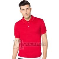 VM Kaos Polo Shirt Edisi Imlek Merah Maroon Pendek