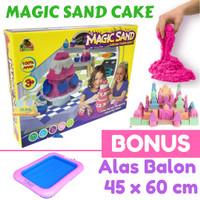 Mainan Pasir Ajaib Magic Sand Moulding Cup Cake Dan Alas Balon