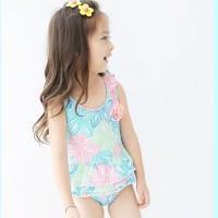 Baju renang anak balita swimwear pastel flower swimsuit