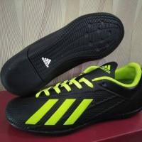 Sepatu Olahraga Futsal Adidas X Techfit Hitam Hijau Sport Import
