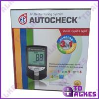 Alat Test Autocheck 3 in 1 Glucose Cholesterol Uric Acid GCU