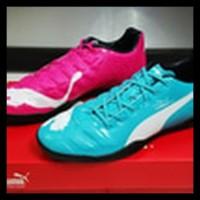 Sepatu Futsal Puma Evopower Tricks Blue Pink