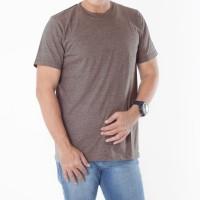 Muscle Fit Kaos Polos O-Neck Lengan Pendek Cotton - Warna Misty