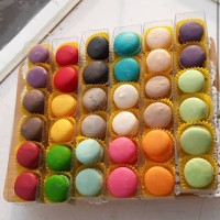 Baby Macaroon (Macaron) polos box 6pcs / Cookies / Kue kering Murah