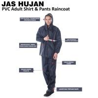 Jas Hujan Setelan/Stelan Jaket/Baju Celana/Raincoat Pria Wanita PVC