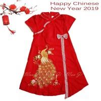 DI09 Dress Imlek Anak Baby-12 th  Baju Imlek   Xincia sincia cheongsam