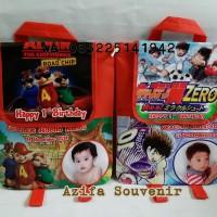 Tas / Goodie Bag Souvenir Ulang Tahun /Ultah Anak Ransel Banner Custom