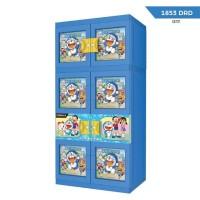Lemari Plastik Naiba Doraemon Gantung 4 Susun