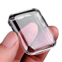 Full TPU Soft Case Silikon untuk Apple Watch 38mm 40mm 42mm 44mm