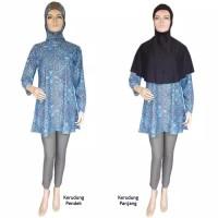 Baju renang muslimah syar i syari sari sar i overall 2 kerudung