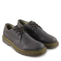 Sepatu Docmart Pria Dr Martens 3hole Low Boots Pantofel Formal Coklat
