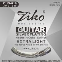 Senar Set Akustik 010 Ziko Gitar Extra Light Acoustic Guitar String