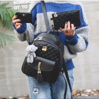 Tas Ransel Batam Wanita Backpack Tas Fashion Kasual - T49118 - Hitam