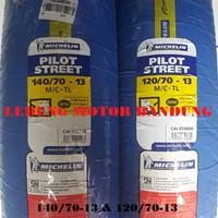 Michelin 120/70-13 & 140/70-13 Pilot Street Ban Motor Tubeles Sepasang