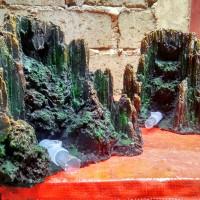waterfall aquascape / air terjun sudut
