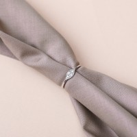 Perhiasan Wanita Cincin Emas Putih 18K Berlian Diamond Ring - LRL