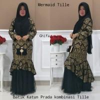 Pinilih Mermaid Dress Batik / Baju Batik Gamis Mermaid Prada Emas