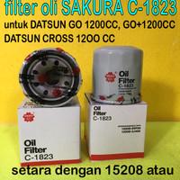 Filter Oli mesin SAKURA C1823 untuk DATSUN GO dan GO PLUS CROSS MARCH