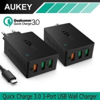 AUKEY PA-T14 WALL CHARGER QUICK CHANGE 3.0 RESMI ORIGINAL - NO KWKW