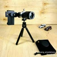 Lensa Tele 12x Zoom Untuk Smartphone Manual Focus Telezoom