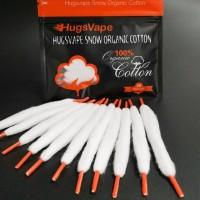 Authentic Hugsvape Snow Organic Cotton Pre-Loaded Vape Cotton For DIY