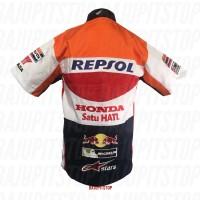 NEW Baju Kemeja MotoGP Honda Repsol Kode AKD073