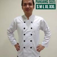 preorder Baju Chef lengan Panjang XXXL - Putih