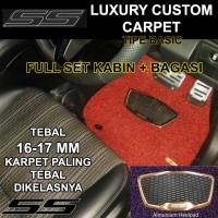 Karpet Mobil SS Honda Brio / Brio Satya 2baris bagasi Luxury Heelpad