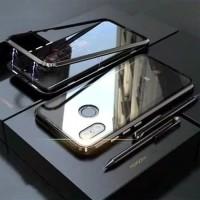 Xiaomi Redmi Note 5 Pro Magnetic Alumunium Tempered Glass Case Casing