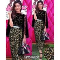 Maxi dress remaja/baju jalan/gaun pesta/kebaya wisuda/longdress batik