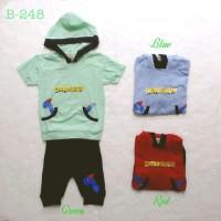 baju fashion setelan kaos hoodie celana dino anak bayi laki laki