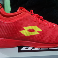 Sepatu Futsal Lotto Spark IN Solar red original