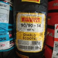 PIRELLI 90/90-14 DIABLO SCOOTER TUBELES BAN MOTOR MATIC BLK RING 14