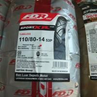 FDR 110/80-14 SPORT XR EVO TUBELES BAN MOTOR MATIC BLK UK LEBAR TUBLES