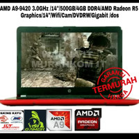 LAPTOP GAMING PROMO HP AMD A9-9420 3.0GHz 14IN 500GB 4GB DDR4