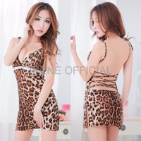 BAJU DALAM IMPORT Babydoll Lingerie Seksi Macan Leopard Clubbing Dres