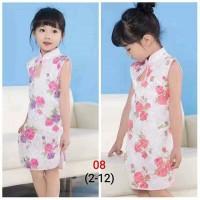 Dress Cheongsam Anak / Baju Cheongsam Anak Import / Baju Imlek Anak
